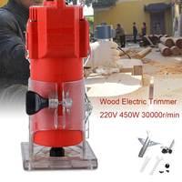 450W 220V 30000RPM Electric Hand Trimmer Wood Router Laminate 6.35mm Durable Motor DIY Carving Machine Woodworking Power Tool