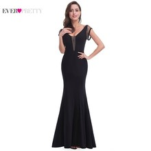 цена Elegant Black Mother of the Bride Dresses Long Ever Pretty Mermaid Short Sleeve Sexy Backless Formal Party Dresses for Wdding