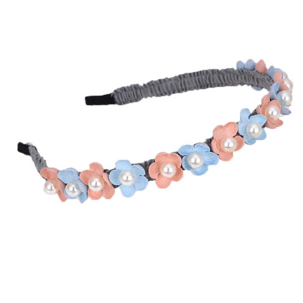 4 ชิ้นน่ารักยืดหยุ่นดอกไม้ Hairhoop Clasp ผม Headdress Headwear อุปกรณ์เสริมผมสำหรับเด็กทารกเด็กวัยหัดเดิน