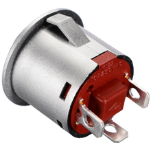 цена на 22mm 12V LED Momentary Latching Brass Nickel Plate 1NO 1NC Metal Push Button Switch with Power Symbol