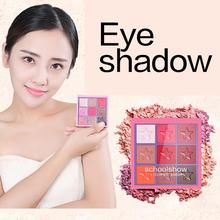 9 Colors Eye Shadow Palette Natural Shimmer Matte shadow Powder  Eyes Makeup Waterproof Easy to Wear