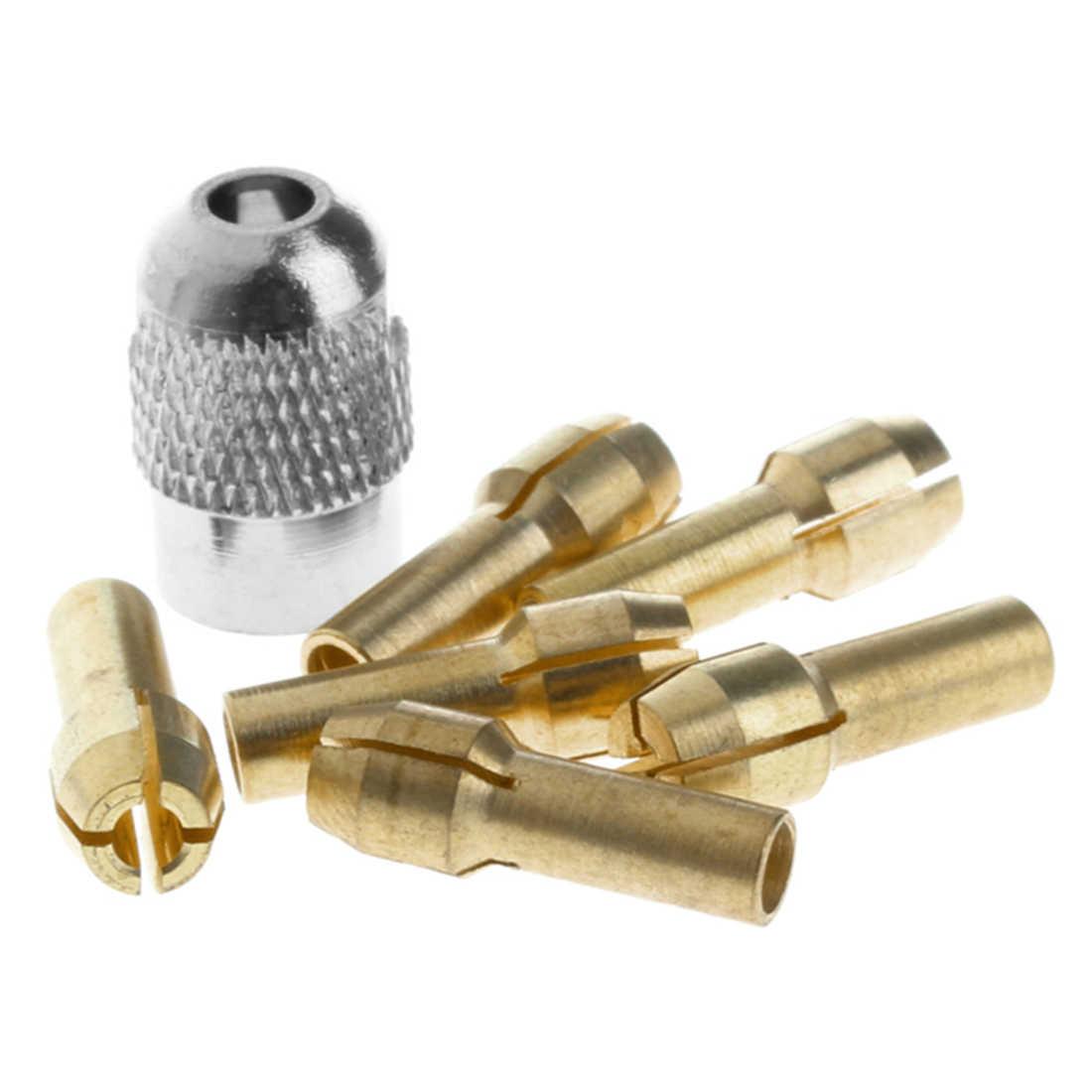 Kit d'accessoires d'outils électriques durables 7 pièces 1-3mm écrou en laiton écrou en laiton Mini perceuse pince en laiton mandrin pour outils rotatifs