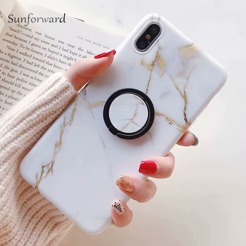 Мраморное кольцо стенд чехол для телефона мягкий для huawei P20 PRO P20 Lite P Smart Plus Nova 3E 3I 2 S 3 mate 20 PRO mate 20 Lite чехол