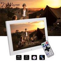 KIWARM 12 HD 1080P LED Digital Photo Picture Frame Movie Player Remote Control +Holder Home Decor Frame Electronic Album