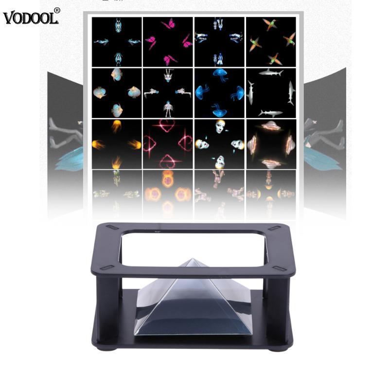 3d Hologramm Pyramide Display Projektor Video Ständer Universal Für Smart Handy Qjy99 Mikrofonstativ Unterhaltungselektronik