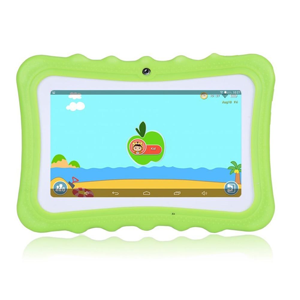 Machine d'apprentissage pour enfants tablette meilleur cadeau pour les enfants 7 pouces HD avec coque en silicone charge USB (Quad Core, 8 GB, Wifi et bleu - 3
