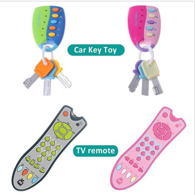 Téléphone télécommande Jouet Mobile TV  voiture clé début jouets éducatifs numéros électriques apprentissage Machine cadeaux pour nouveau-né 1