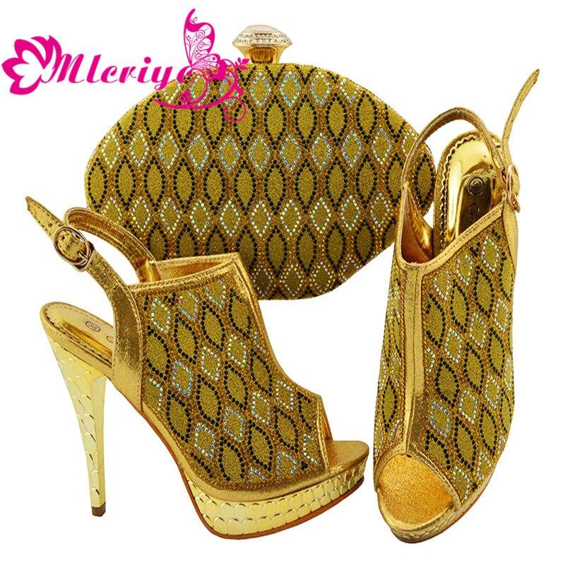 Damen Mit Tasche Strass Passenden Set Schuhe Hohe Qualität Und lila Verziert Taschen Afrikanische Party Ankunft Neue 8vq1fR