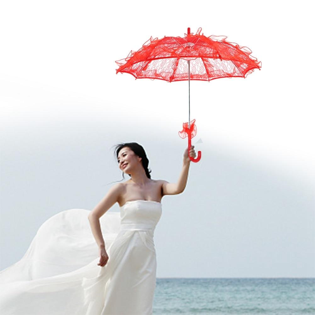 TtKj Folding Umbrella Ladies Fashion Lace Lace Pagoda Creative Sunshade Wedding Umbrella