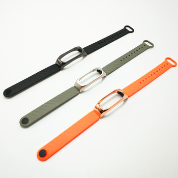 For Xiaomi Mi Band 2 Mi Band 3 4 Strap Silicone Strap With Metal Case Smart Bracelet Miband 4 Accessories Replacement Sport Band image