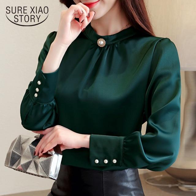 blusas mujer de moda 2018 long sleeve women shirts womens tops and blouses chiffon blouse shirt