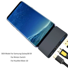 USB Type C HUB Dex Station Pad Docking Dock for MacBook Pro Samsung Galaxy Note 8 S8 S9 S8+ S9 Nintend Switch Huawei Mate 10 P20 все цены