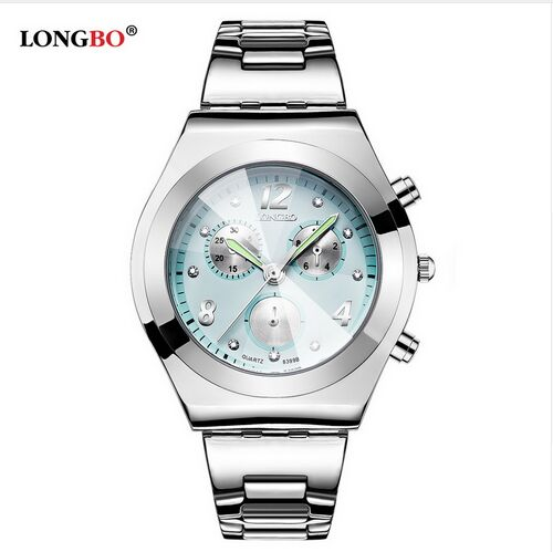 Fashion LONGBO Brand Luxury Water Resistant Casual Quartz Women Lady Gift Watches Full Stainless Steel Sports Watch Montre Femme