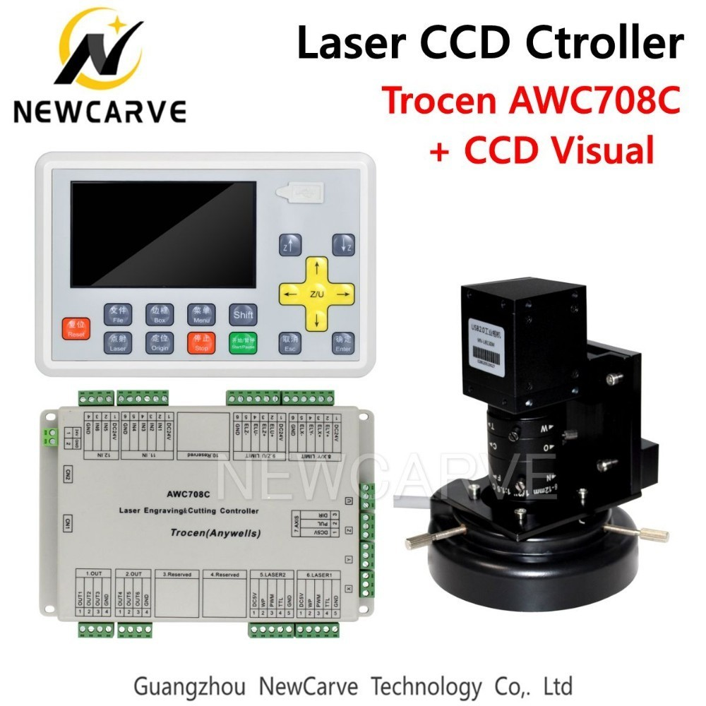 Trocen AWC708C CCD Visual CO2 Laser DSP Controller System For Laser Cutter Engraver NEWCARVE in CNC Controller from Tools