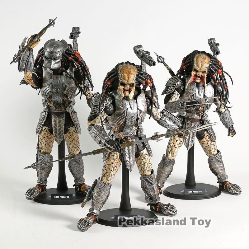 Hot Toys MMS 190 Alien vs. Predator Predators 2 AVP Scar Predator 2.0 PVC Action Figure Collectible Model Toy
