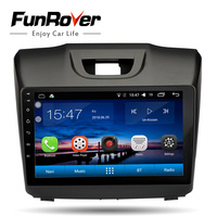 Funrover 2 din android8.0 car multimedia player for Chevrolet Trailblazer Colorado S10 Isuzu D max MU X car radio gps navigation