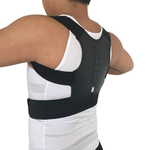 Magnetic Posture Corrector Men Orthopedic Back Support Belt Correct Brace Correcteur de 12 Magnets