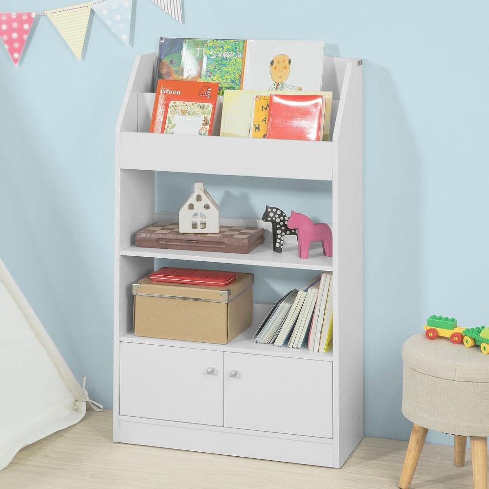 SoBuy KMB11-W, Children Kids Bookcase Book Shelf Storage Display Shelving Cabinet Organizer