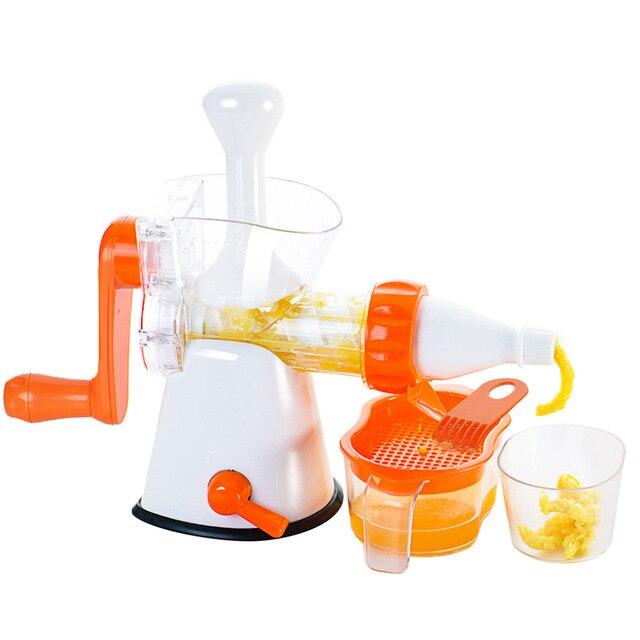 Manual do Juicer Extrator de Suco de Frutas Liquidificador Misturador Vegetal Portátil Com Alça de Rotação de Mistura Smoothies Máquina de Comida Para Bebé
