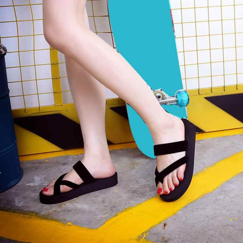 2019 New Fashion Women Casual Summer Sandal Slippers Anti-skid Beach Outdoor Open Toe Shoes Sandals