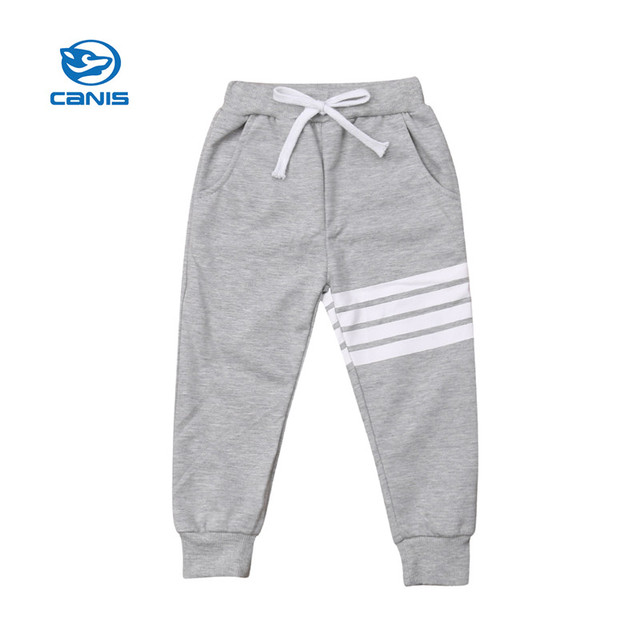 CANIS Baby Boy Girl Sports Pants Long Toddler Kids Child Sweat Pants Joggers Elastic Bottoms Autumn winter Boys Girls Clothes