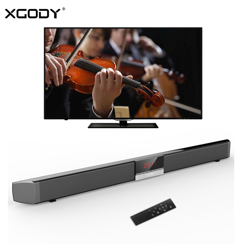 XGODY SR100 Plus 40 W TV Home Theater Soundbar Barra de Som Sem Fio Bluetooth Speaker Subwoofer Aux-In Coaxial Óptico alto-falantes