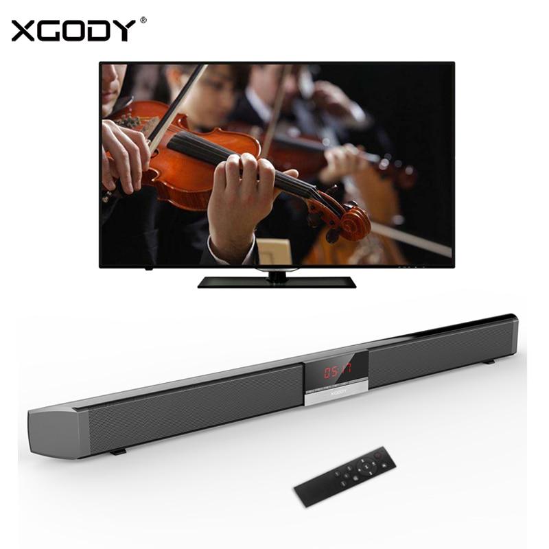 XGODY SR100 Plus barre de son Bluetooth 40 W Home cinéma TV barre de son haut-parleur sans fil haut-parleur de graves optiques coaxiaux