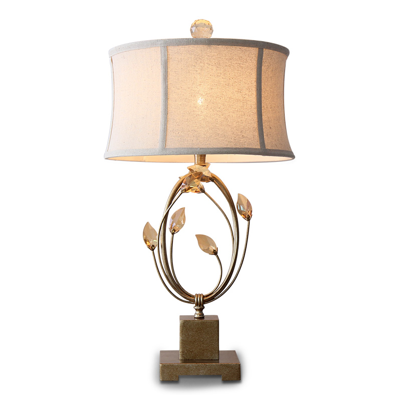 Fashion Style Modern Desk Lamps Led Crystal Table Lamps Cloth Lampshade Marble Base Bedroom Bedside Living Room Restaurant Table Lights Decor Spare No Cost At Any Cost Led Table Lamps