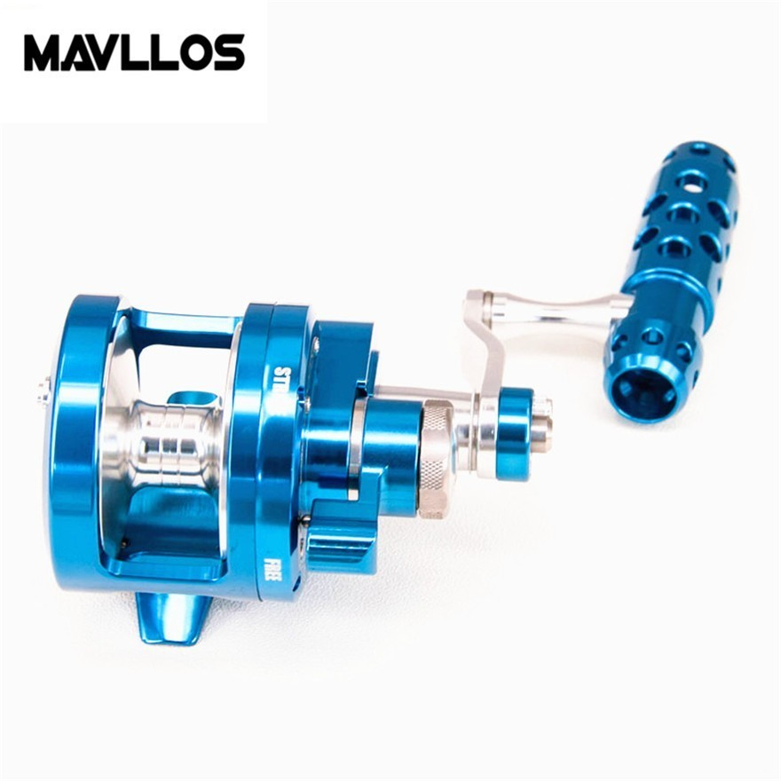 Mavllos Sea Fishing Round Casting Reel Ratio 4.5:1&2.1:1 Ultralight Aluminum Alloy Shell Max Drag 25Kg Saltwater Fishing Reel fishing reel new aluminum alloy cnc processing spinning reel 11 1bb stainless steel bearing 25kg max drag sea boat pesca