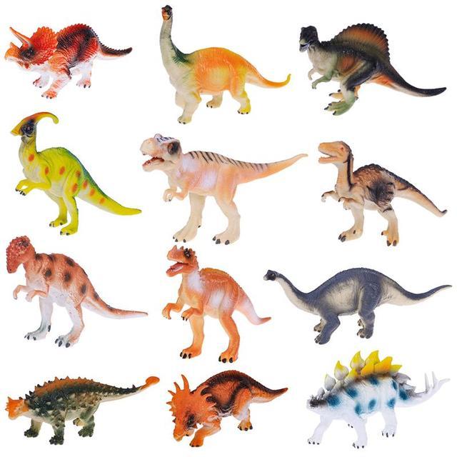 TOYMYTOY 12 pcs Durável Não-tóxico Brinquedos Dinossauros Modelo Set Toy Animal Figuras Sortido para Recompensas e Presentes