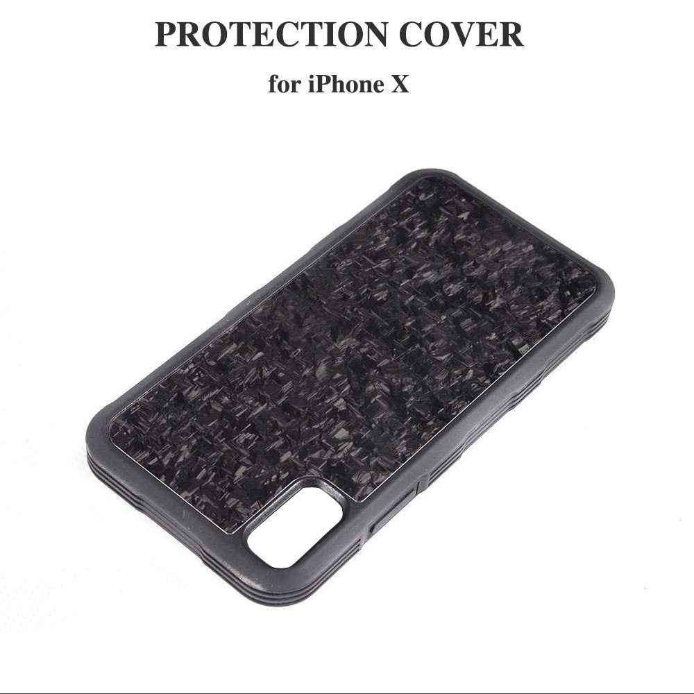 Carbon Fiber Forged Composite Cell Mobile Phone Cover Case for iPhone X Only mobile phone