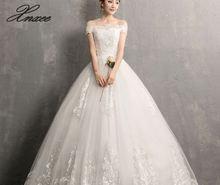 Xnxee Luxury Lace Embroidery 2019 Dresses 100cm Long Train Sweetheart Elegant Plus size Vestido De Noiva Bride
