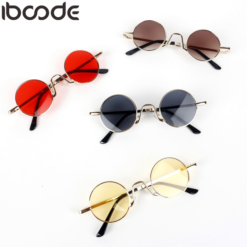 Faithful Iboode New Kids Round Sunglasses Cute Boys&girls Uv400 Vintage Metal Frame Infant Glasses Hip-hop Punk Cool Baby Child Glasses High Quality And Low Overhead Women's Sunglasses