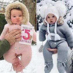 Зимние Детские Комбинезоны из хлопка, одежда для маленьких мальчиков, одежда для маленьких девочек, Newbown Baby Одежда для новорожденных комбин...