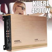 4 Channel 4 4500W High Power Car Amplifier Stereo Surround Sound Fidelity Aluminum Alloy Car Audio Amplifiers