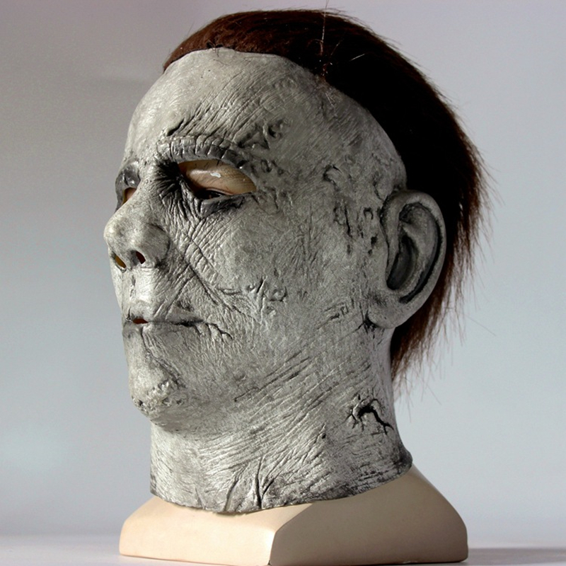 Hot Movie Halloween Horror Michael Myers Mask Cosplay Adult Latex Full Face Helmet Halloween Party Scary Props