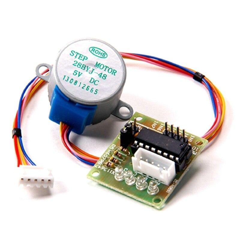 1set 28BYJ-48 5V 4 Phase DC Gear Stepper Motor + ULN2003 Driver Module Board for arduino DIY Kit PIC MCU