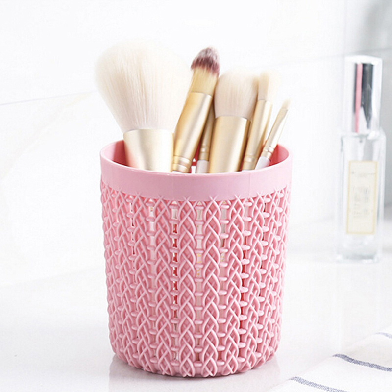 Makeup Brushes Cylinder Hollow Cosmetic Brush Box Holder Storage Empty Holder Cosmetic Brush Bag Brushes Organizer Make Up Tools