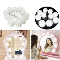 LED Vanity Mirror Lights Kit Dimmable White Mirror 5cm/2inch 6cm/2.4inch LED DC 12V Bulbs