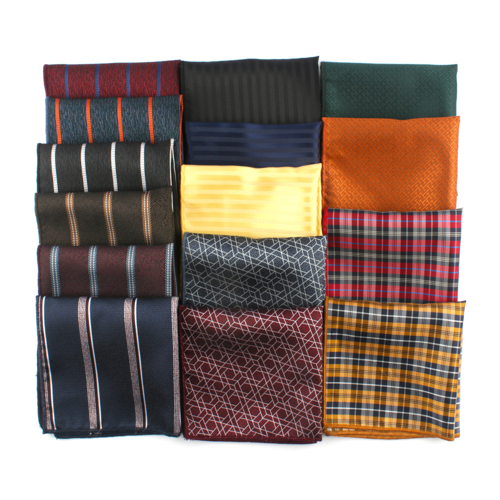 Mens Fashion Handkerchief Pocket Square For Mens Classic Formal Business Pocket Towel Small Hankies For MensLadiesChest To