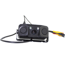 PZ451 3 In 1 Auto Car Reversing Kit Video Parking Sensor Backup Rear Smart View Camera Radar Detector Sensors Buzzer Alarm стоимость