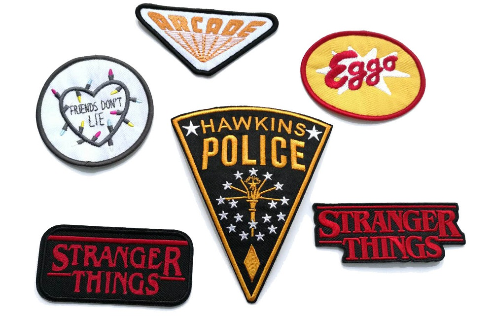 HAWKINS POLICE iron on patches Stranger Things Eggo badge movie TV souvenir embroidered appliques accessoriy coat