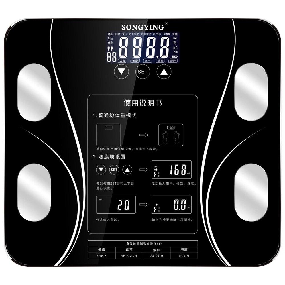 Напольные весы 80 кг 400 фунтов весовые Инструменты сенсорный пол научный умный электронный светодиодный цифровой Вес весы для ванной баланс