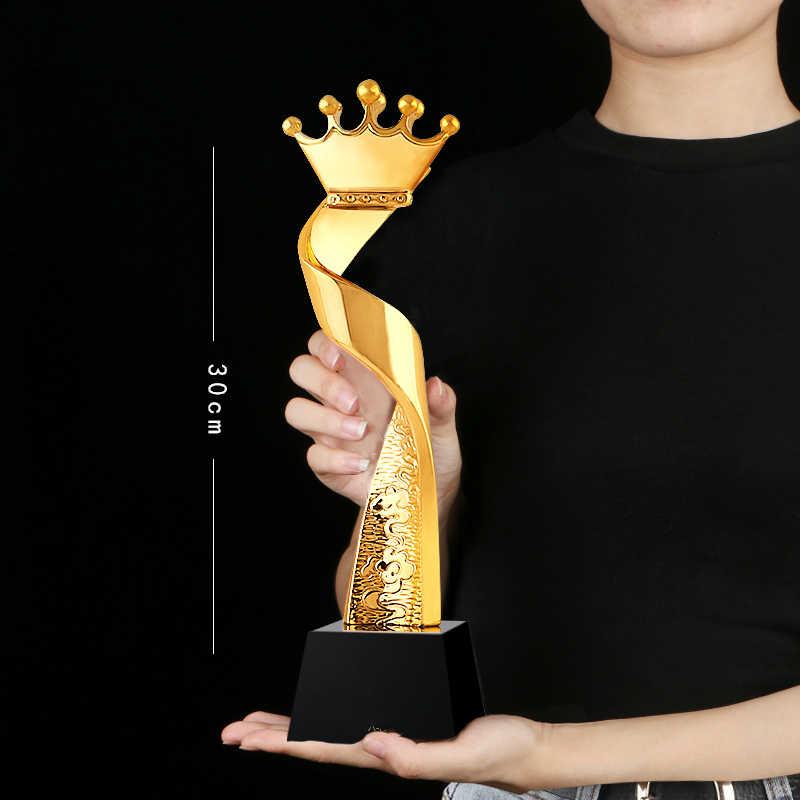 Лидер продаж Корона хрустальный трофей индивидуальные Best мисс красота конкурс трофей Чемпион трофеи отличный персонал призовая медаль сувениры