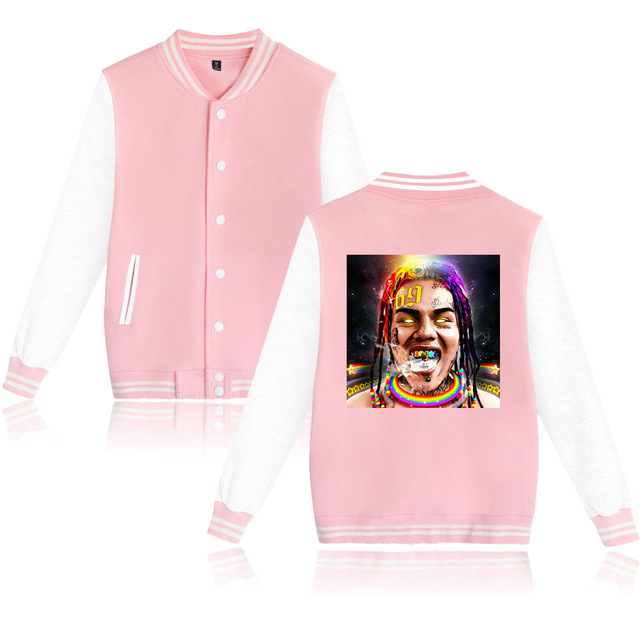 6IX9INE SCUM GANG THEMED BASEBALL JACKET (20 VARIAN)