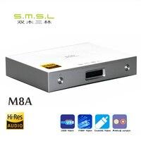 New version SMSL M8A ES9038Q2M 32Bit/768kHz DSD512 DAC USB/Optical/Coaxial/ input XMOS USB Decoder humanized operation