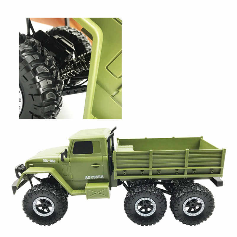 Sulong Mainan SL3342 Ural 1/10 2.4G 6WD RC Mobil Truk Militer Kendaraan Rtr Model Mainan Anak Hadiah