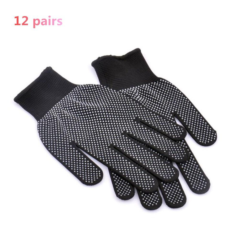 Mounchain 12 Pairs Breathable Hiking Gloves Nylon Non Slip Gloves Colloidal Particles Outdoor Camping Hiking Cycling Glove