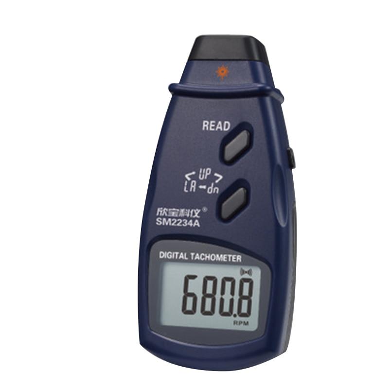 2 en 1 tachymètre Laser optoélectronique numérique Photo Laser Contact tachymètre vitesse haute précision 99999 tr/min tachymètre