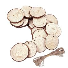 50 PCS Christmas Ornaments DIY Innovative Small Wood Discs Circles Painting Round Small Pine Slices 5-6 Cm/1.97-2.36 In